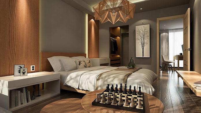 Łóżko do sypialni z miejscem na pościel